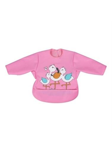 Sevi Bebe Sevi Bebe Kollu Mama Önlüğü Flamingo Renkli